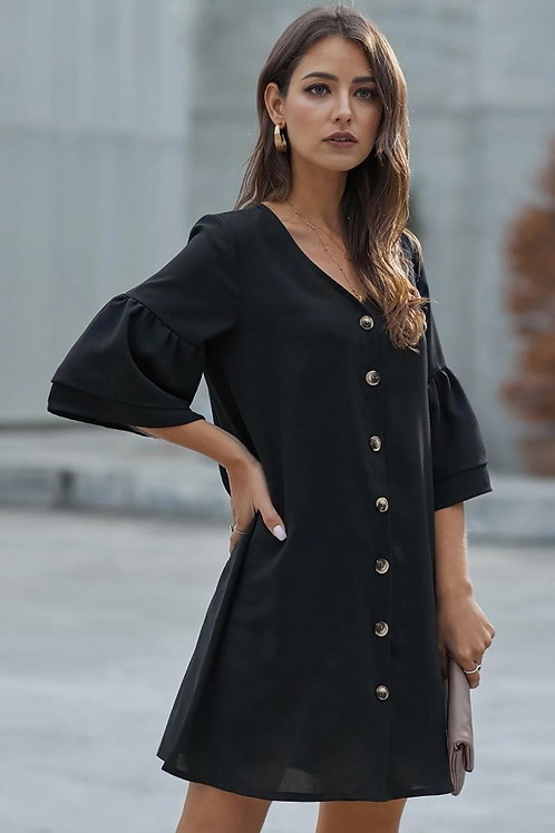 Vestido nuble negro