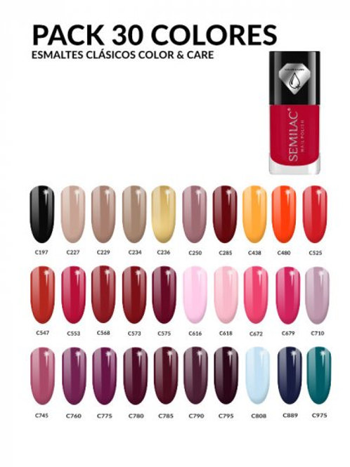 Pack 30 Colores Esmalte Clásico Color & Care