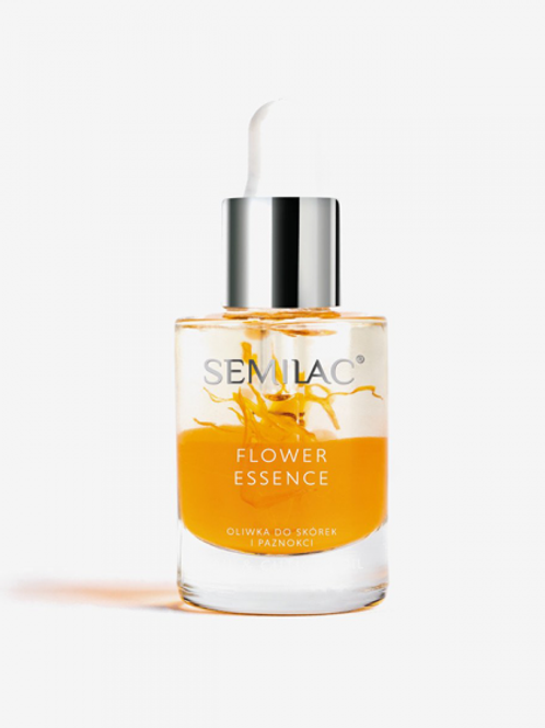 Aceite de cutícula Semilac Care Flower Essence Orange Strength 10ml