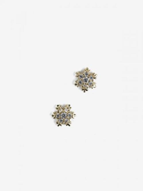 778 Decoraciones Semilac Gold Snowflakes (copos de nieve) 2 unidades