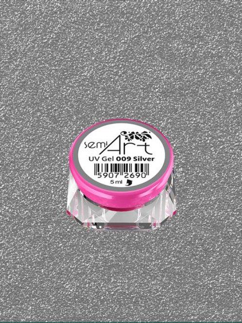 SemiArt UV Gel 009 Silver