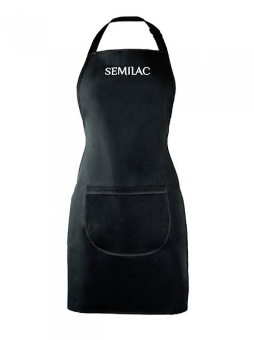 Delantal negro con logo blanco Semilac