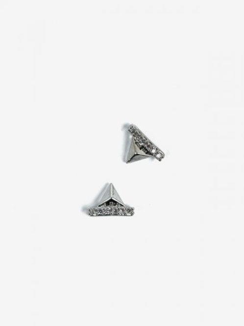 783 Decoraciones Semilac Silver Pyramids 2 unidades