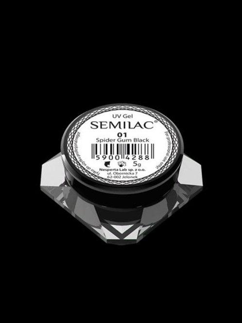 Semilac Gel para Decoraciones Spiders Gum 01 Black