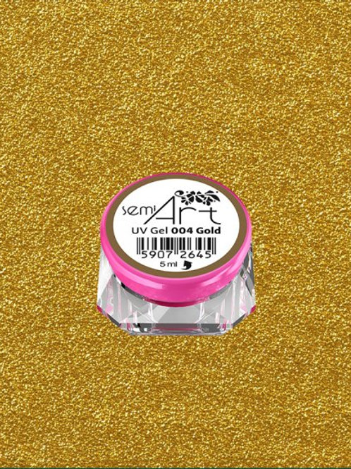 SemiArt UV Gel 004 Gold
