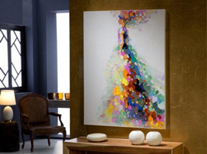 Gala· Pintura realizada en acrílico, montado sobre bastidorMEDIDAS 120X90