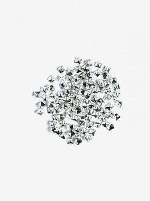 773 Decoraciones Semilac Silver Big Squares 100 unidades