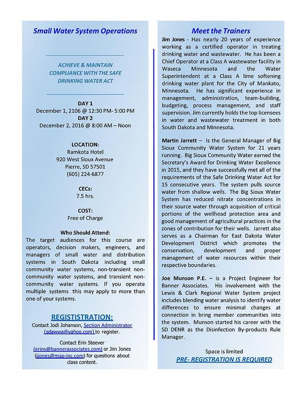 Free Training - 2 Concurrent Sessions (Dec 1-2, 2016) | sdawwa