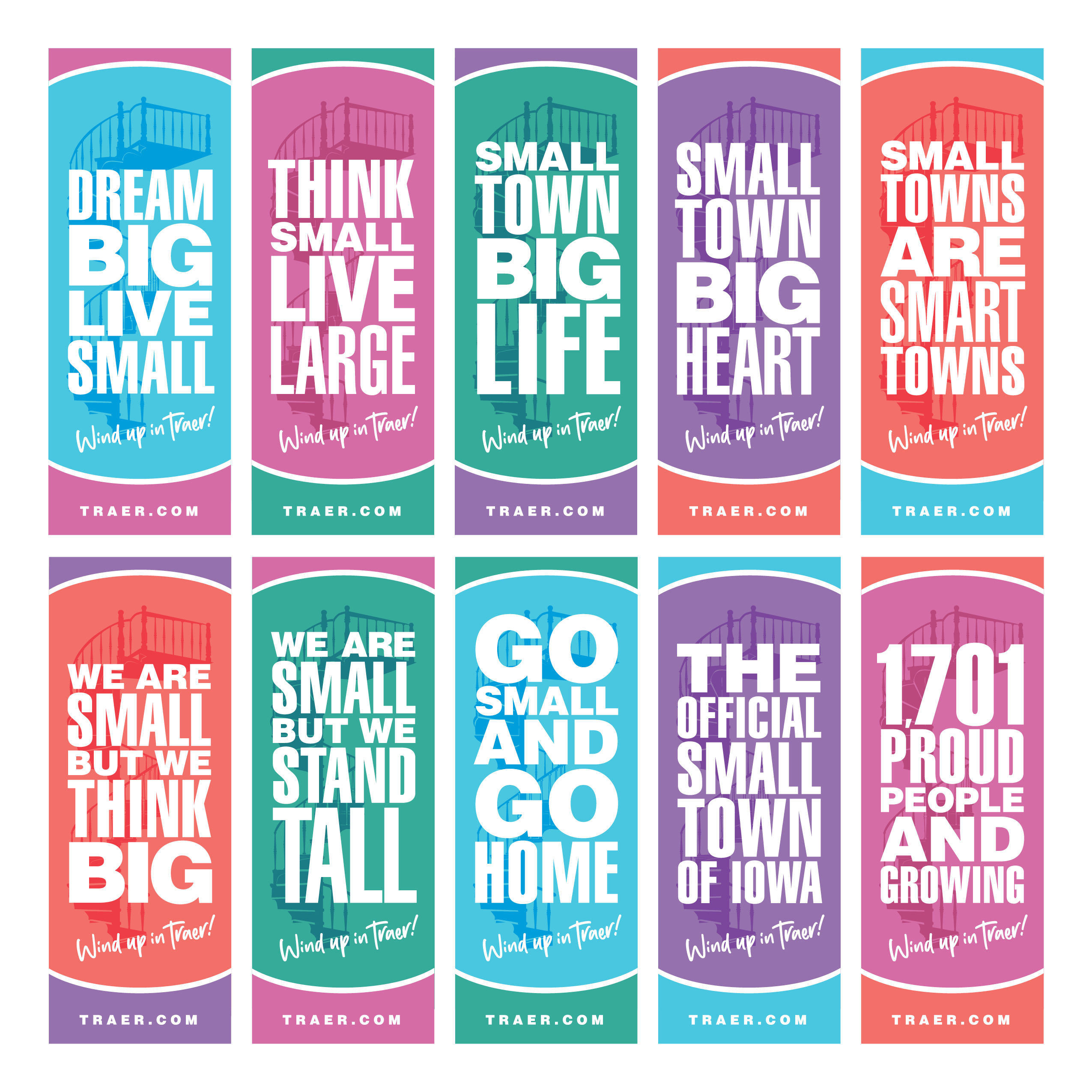 Traer Go Small Town Banners