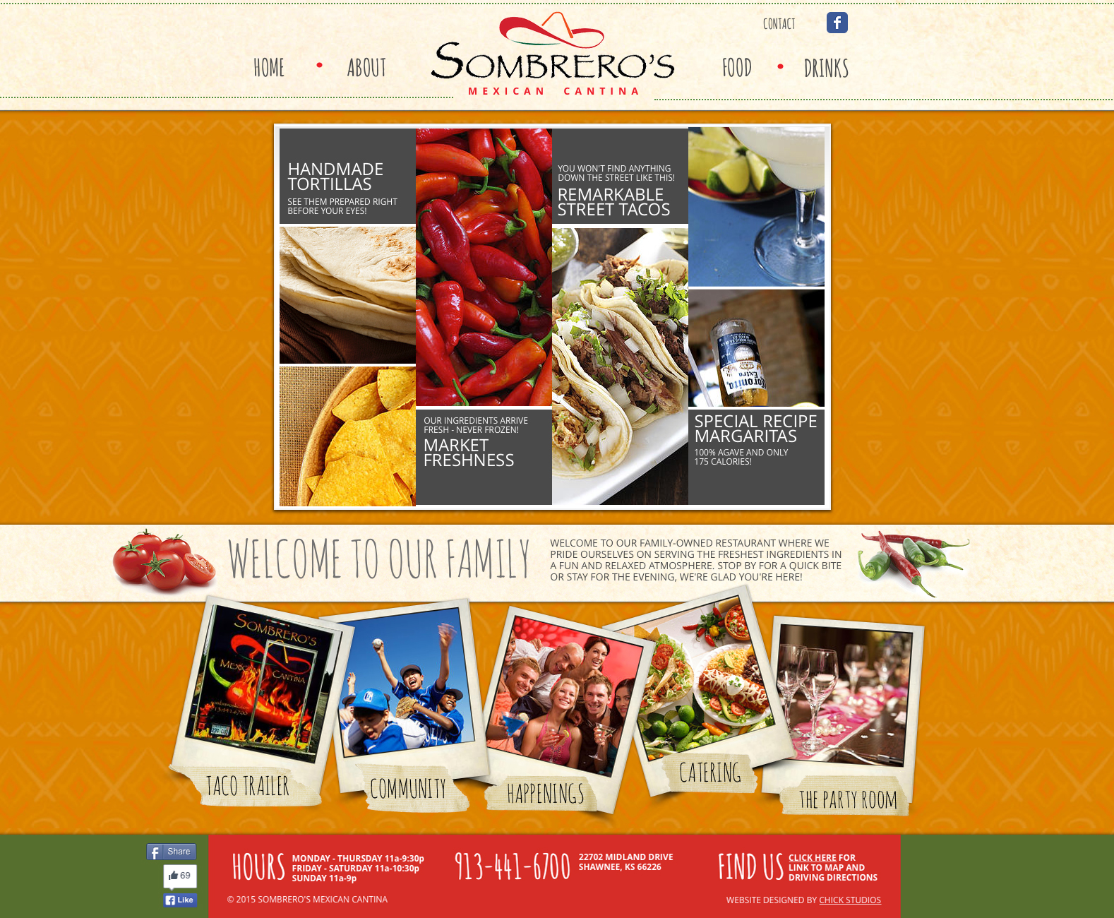 Sombrero's Mexican Cantina website