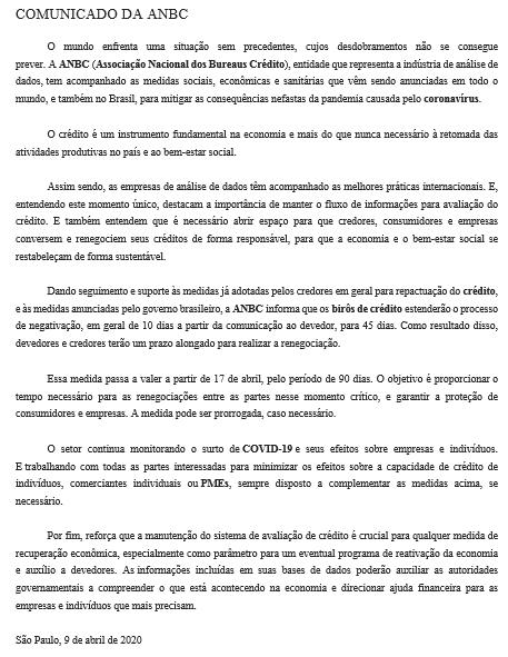 Cobrança, Anbc, Serasa