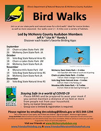 Bird Walks 2020 September - December Big