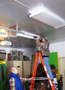 Constructing new lighting in the garage