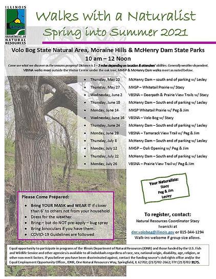 Walk with a naturalist through 7-26-2021