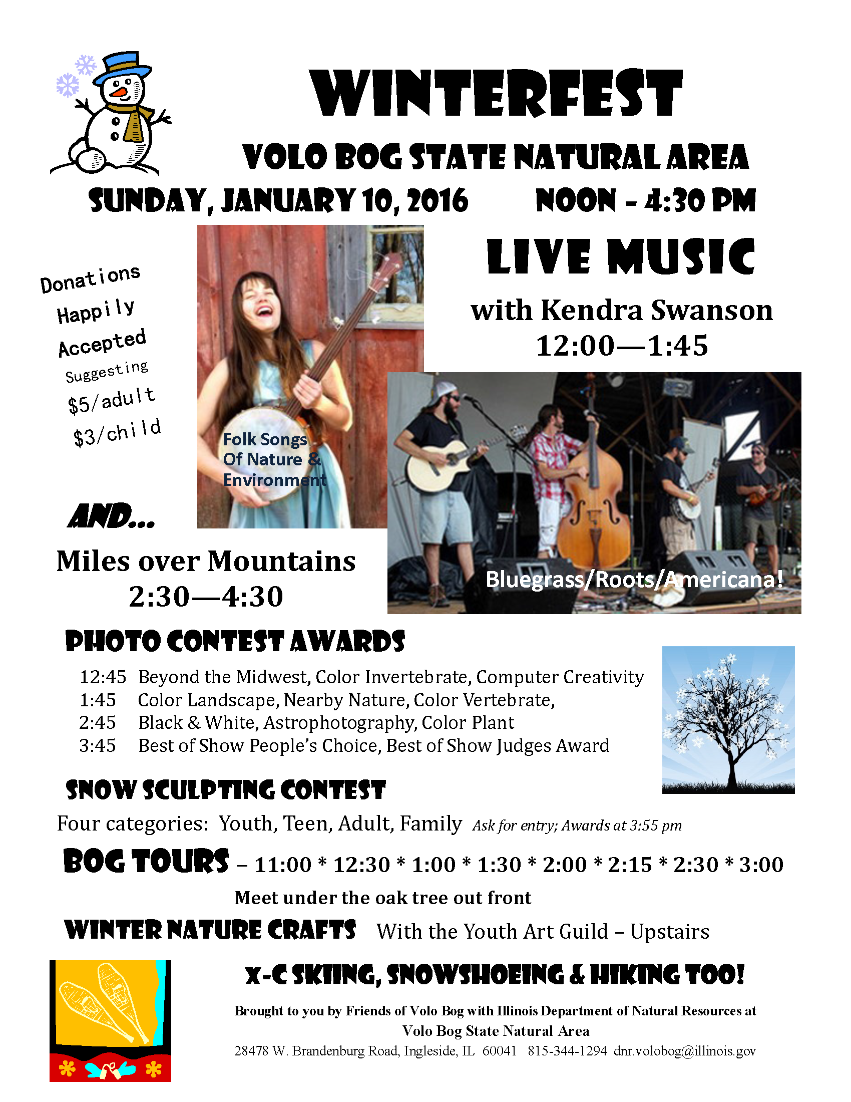 WinterFest 2016 at Volo Bog Flyer