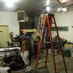 Constructing new lighting in the garage