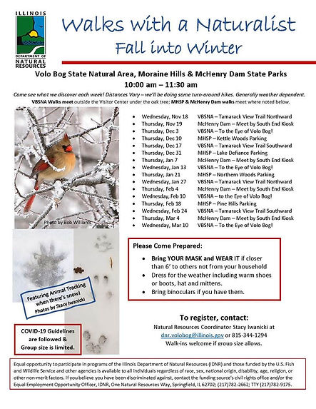 Walk with a naturalist winter fall 2020-