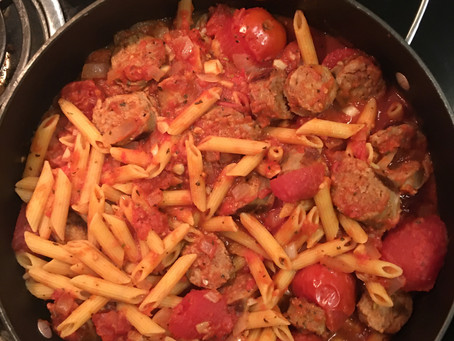 Penne with Sausage and Tomatoes