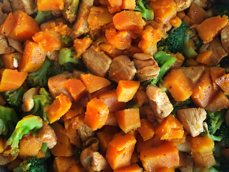 Sweet Potato and Chicken Skillet Stew