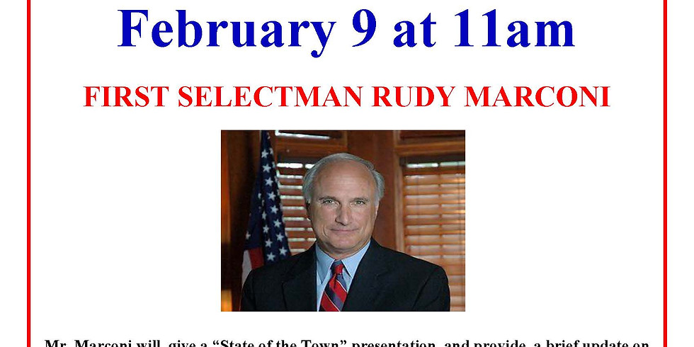 Get to Know Your Town with First Selectman Rudy Marconi co-sponsored by the Ridgefield Library