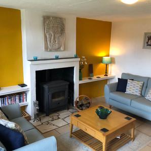 Living room at Walnut Tree Gite