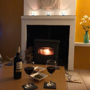 A relaxing evening enjoying Walnut Tree Gite