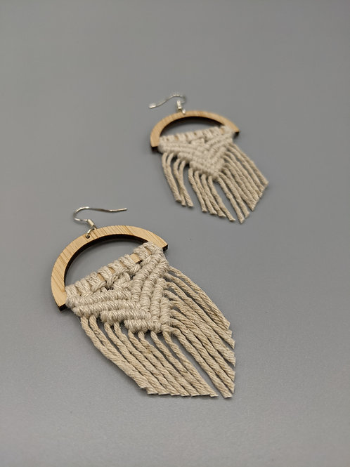Natural Hemp Earrings