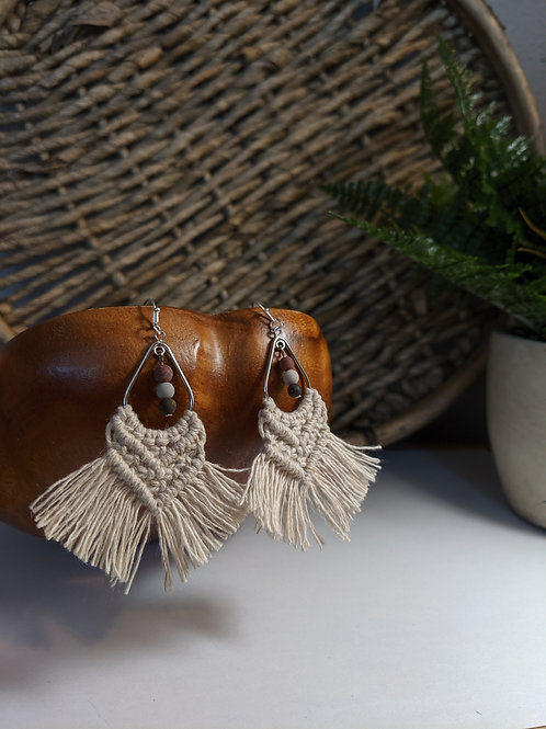 Hemp & Stone Earrings