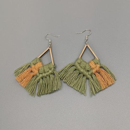 Wooden Frame Earrings