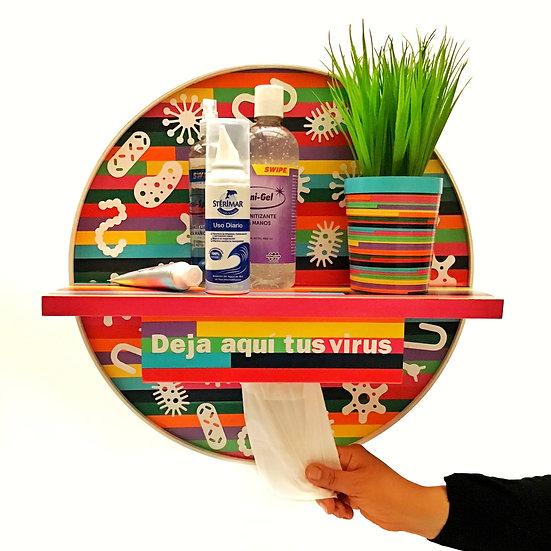 Recibidor / Organizador sanitizante redondo