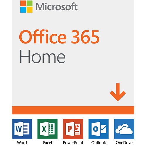 MICROSOFT OFFICE 365 HOME - BOX PACK (1 YEAR) - UP TO 6 PEOPLE