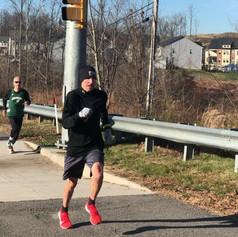 Hasan Hobbs, Pete Wergin, Jeff Duyn at the finish