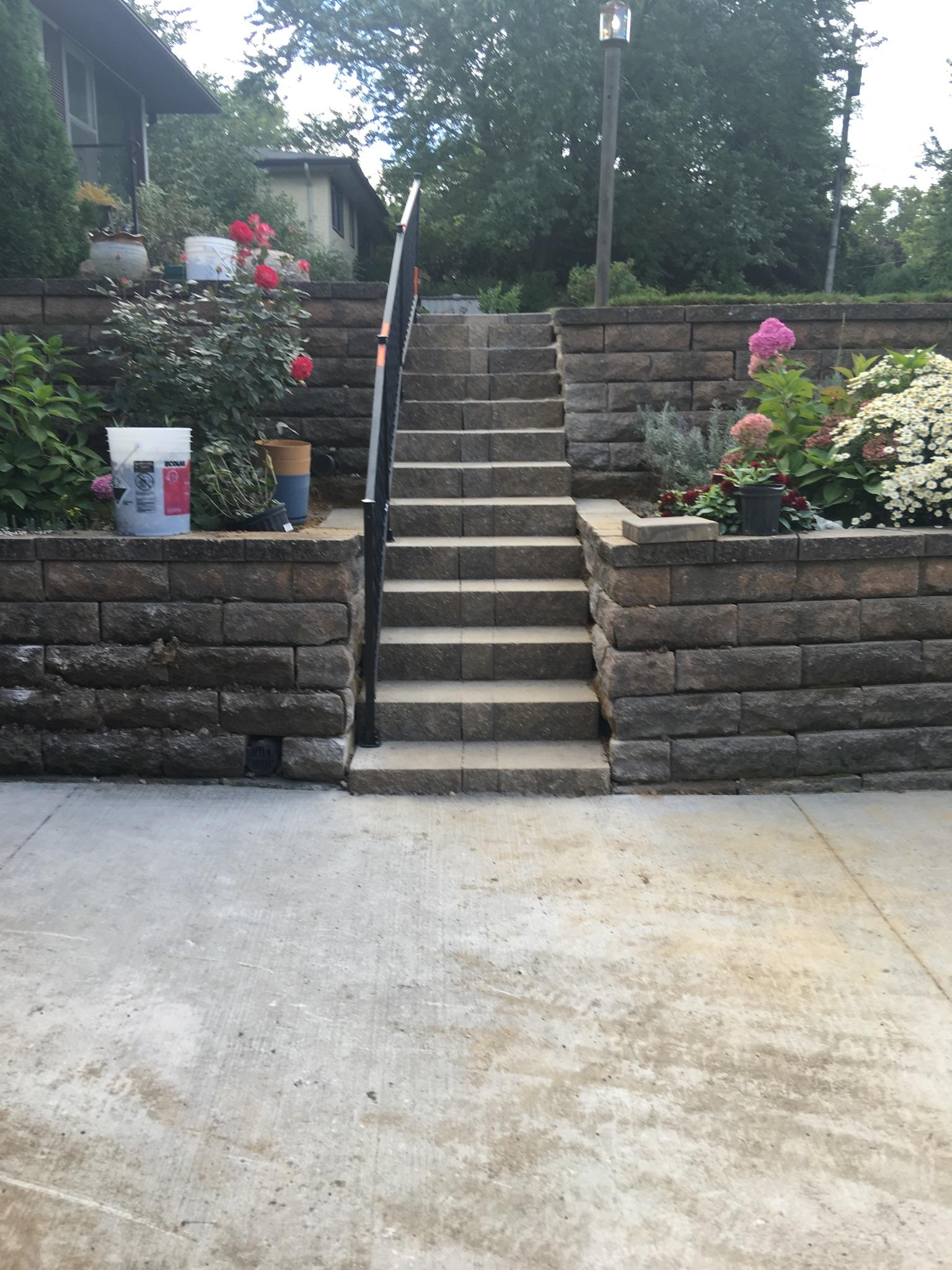 Stone Stairs & Retaining Wall