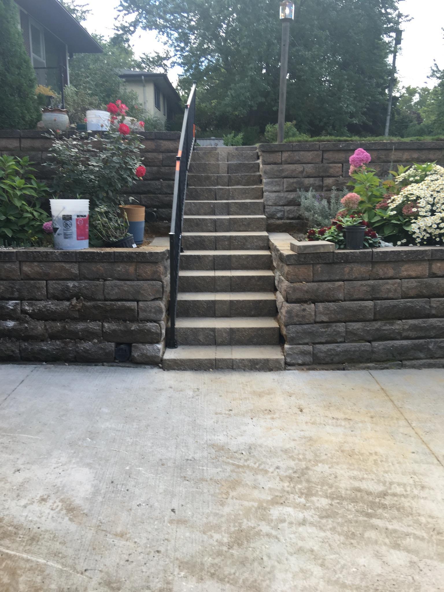 Stone Stairs & Retaining Wall