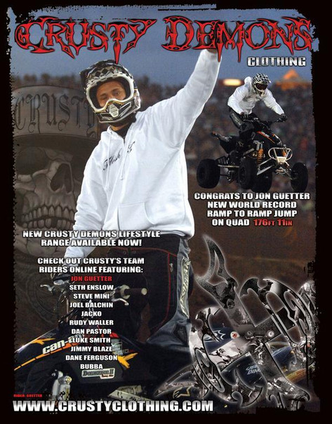 Jon Guetter Front Cover of Crusty Demons Magazine