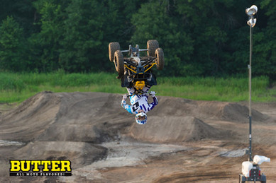 Jon Guetter backflipping his ATV for Butter: All Moto Flavored