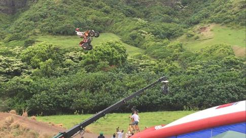 Derek Guetter stunt doubling Adam Devine