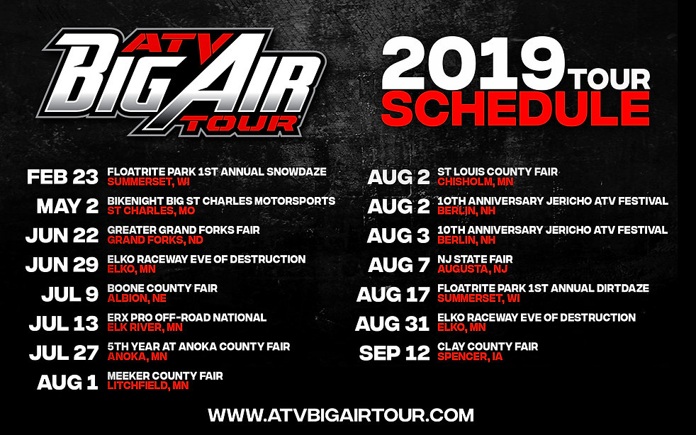 2019 ATV BIG AIR TOUR EXTREME SPORTS THR