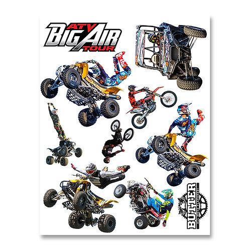 ATV Big Air 2 Sheet Sticker Pack