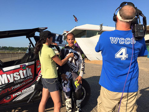 ATV Big Air Tour performing for WCCO at Mystic Lake's Canterbury Park in Shakopee MN