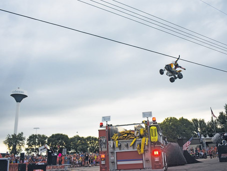 Getting some Big Air - ATV Big Air Fest comes through Wabasso Saturday evening
