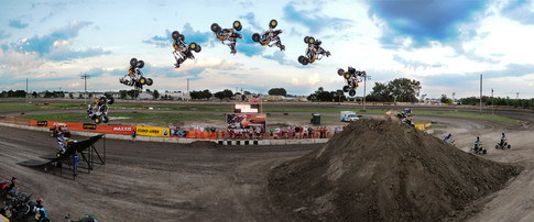 Derek Guetter backflipping an ATV at the Redwood County Fair