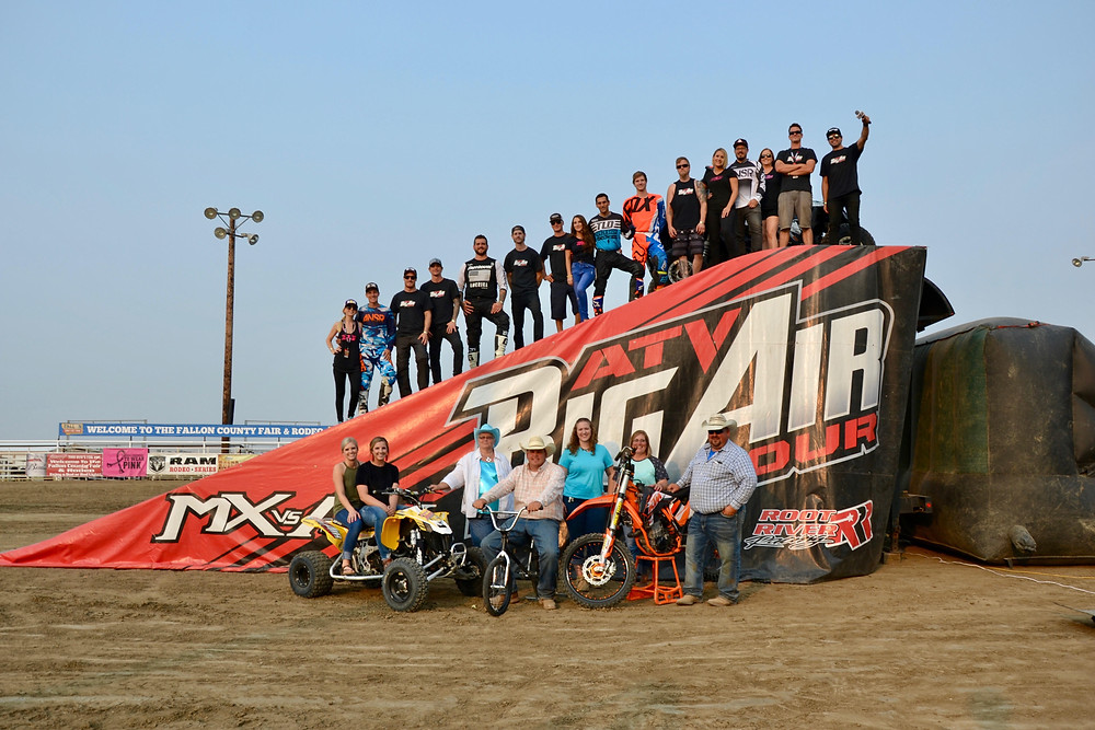 The ATV Big Air Tour is known both locally and internationally for their sports thrill show headlining dizzying stunts and free riding on ATVs, dirt bikes, Polaris RZR, and BMX. ATV Big Air Tour performs extensively during the summer months at various county and state fairs, motor speedways, exposition events, and ATV rallies.