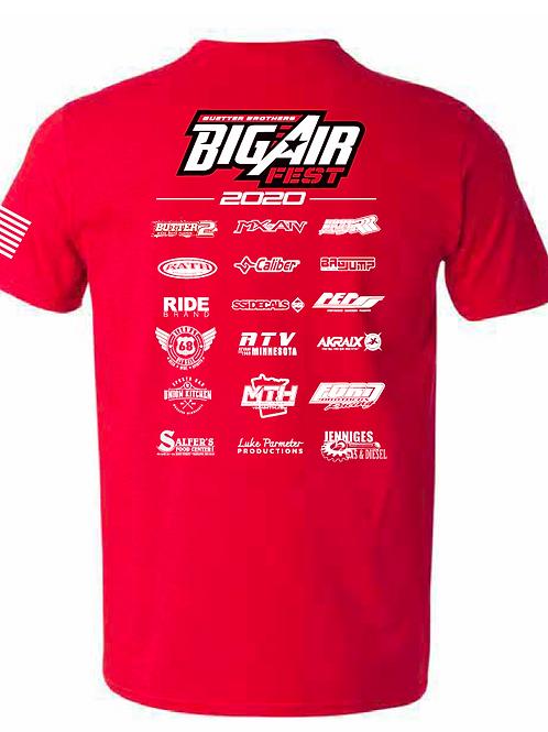 1st Annual Big Air Fest Event T Shirt