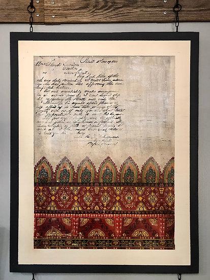 "Moroccan Love Letter Art Panel  23.5"" x 30"""