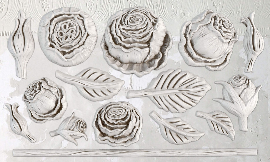 "Heirloom Roses Mould 6"" x 10"""