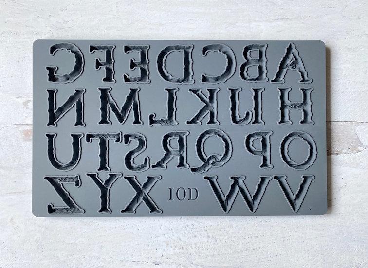 "Victoria Alphabet Mould 6"" x 10"""