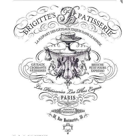 "Brigitte's Patisserie Transfer - 30"" x 37"""