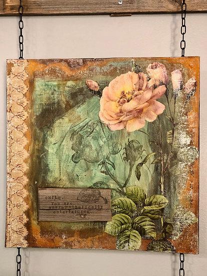 """Gypsy Desert Rose Art Panel 12"""" x 23.5"""""""