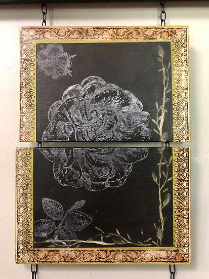 """Half & Half"" Two-Piece Art Panel 11.75"" x 16"""